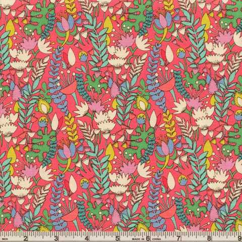 Windham Fantasy 51289 5 Raspberry Florabundent By The Yard