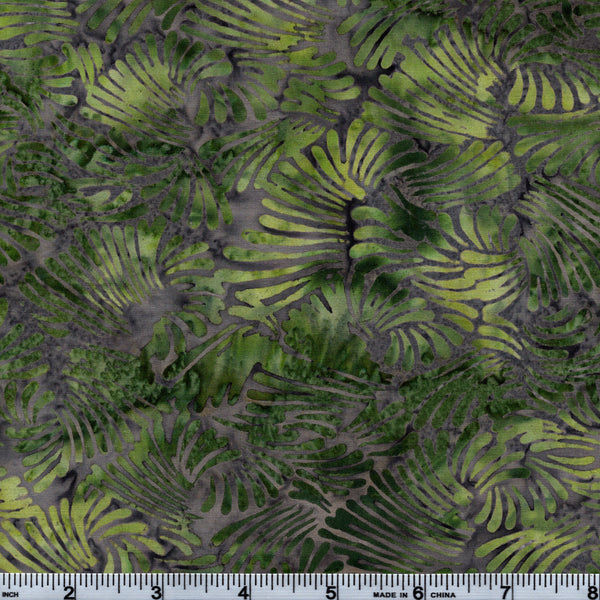 Hoffman Bali Batik GRN 5130 Farah Abstract Lines On Green By The Yard