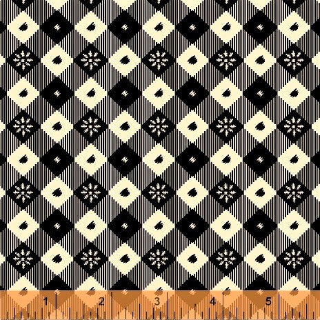 Windham Early Bird 51401 5 Black Country Tablecloth By The Yard