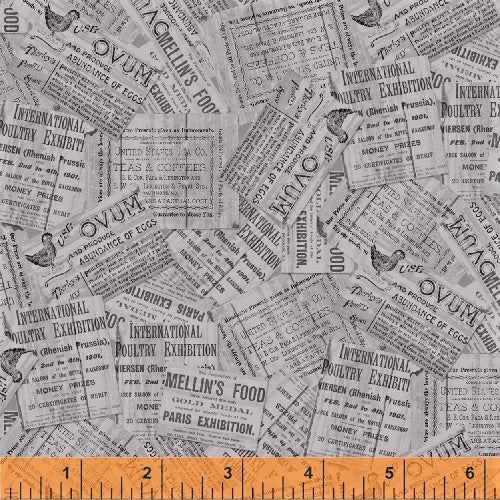 Windham Early Bird 51402 2 Grey Newspaper Clips By The Yard