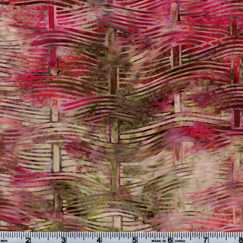 Hoffman Bali Batik MUL 5165 Sweet Candy Basket Weave By The Yard