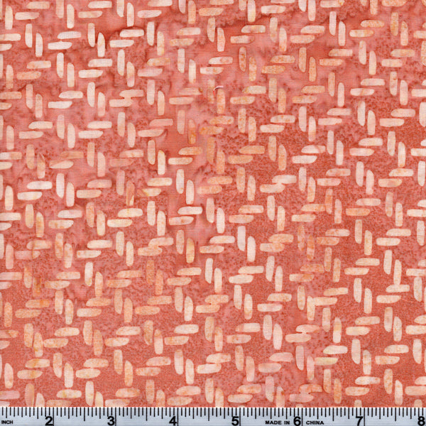 Hoffman Bali Batik PNK 5172 Salmon Knots By The Yard