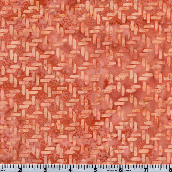 Hoffman Bali Batik PNK 5182 Dark Salmon Knots By The Yard