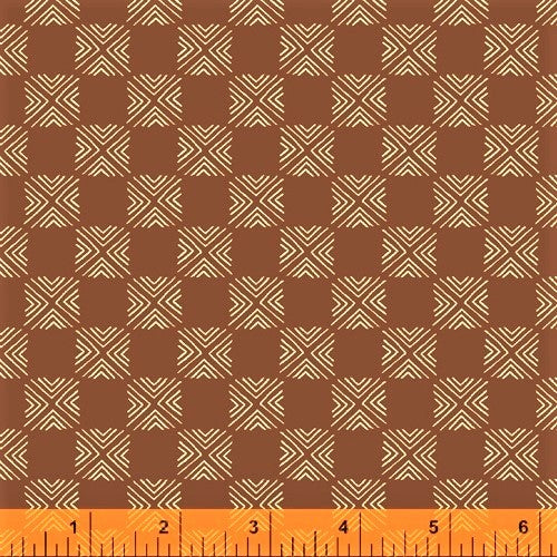 Windham Terra 51784 4 Umber X Squared By The Yard
