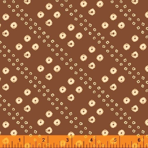 Windham Terra 51787 4 Umber Rough Circles By The Yard