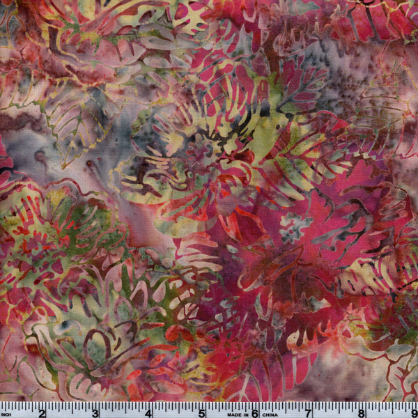 Hoffman Bali Batik MUL 5180 Gumdrop Large Flowers By The Yard