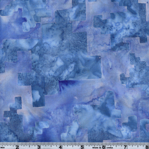 Hoffman Bali Batik BLU 5224 Cloud Blue Puzzle Pieces By The Yard