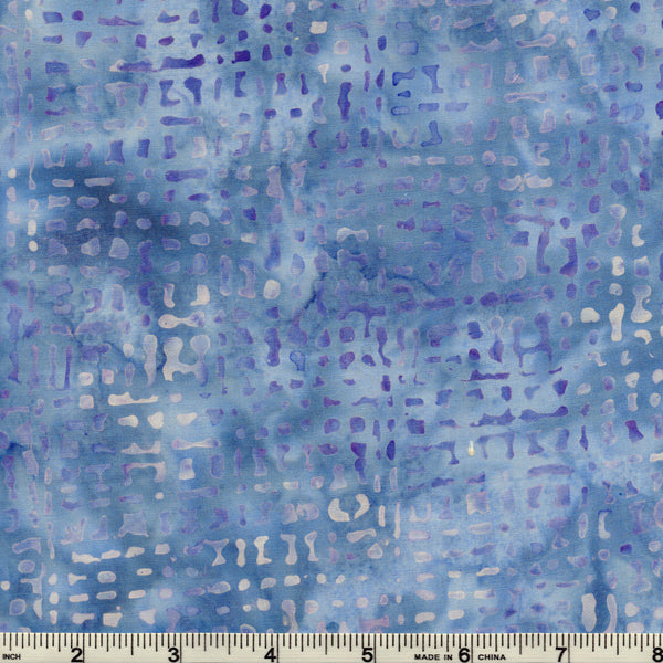 Hoffman Bali Batik BLU 5225 Cloud Random Pattern By The Yard