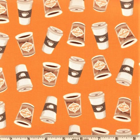 Windham Coffee Shop 52263 5 Caramel Coffee Cups By The Yard