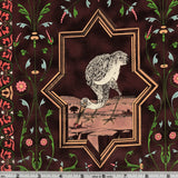 Blank Quilting Renaissance Menagerie BTR5462 Cocoa Unicorn, Rabbit, Cat, & Heron Panel By The Panel