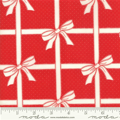 Moda Vintage Holiday 55165 11 Wrapped Up Red By The Yard