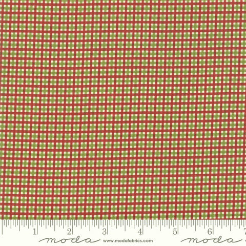 Moda Merry Starts Here 5737 13 Green/Red Merry Plaid By The Yard