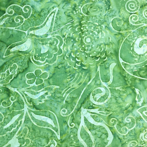 Anthology Batik 574 Peter Pan Green by the yard