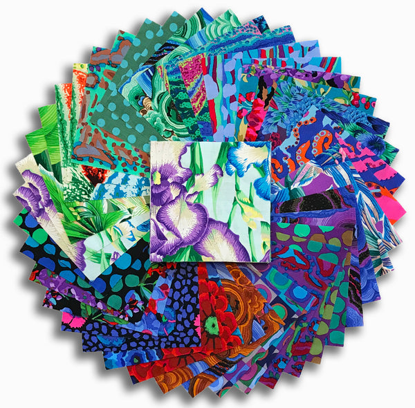 "Free Spirit Kaffe Fassett Pre-Cut 42 Piece 5"" Charm Squares - August 2020 Cold"