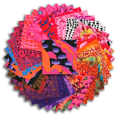 "Free Spirit Kaffe Fassett Pre-Cut 42 Piece 5"" Charm Squares - February 2021 Hot"