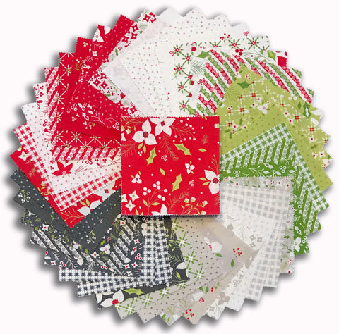 "Moda Pre-Cut 42 Piece 5"" Charm Squares - Holliberry"