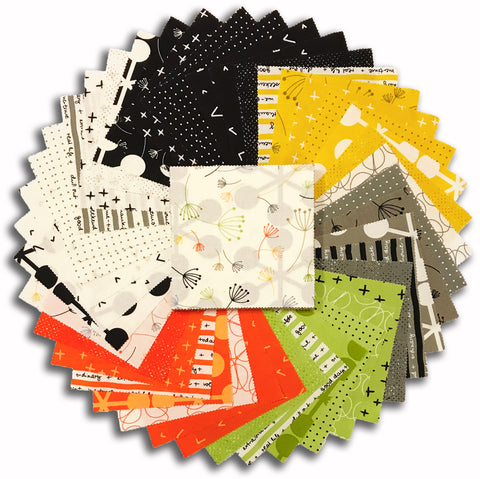 "Moda Pre-Cut 42 Piece 5"" Charm Squares - Quotation"
