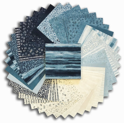 "Moda Pre-Cut 42 Piece 5"" Charm Pack - The Blues"