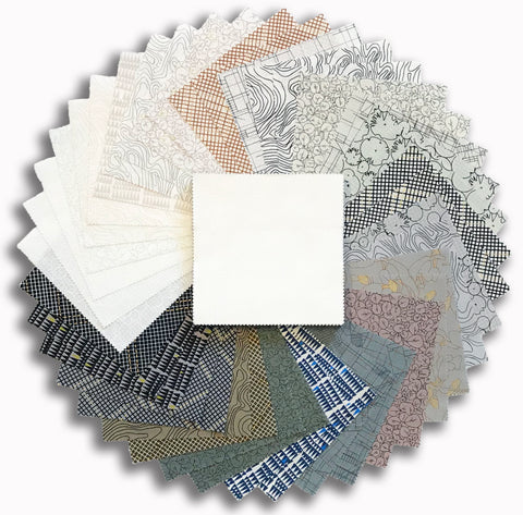 "Kaufman Pre-Cut 42 Piece 5"" Charm Squares 913 42 - Collection CF Neutral"