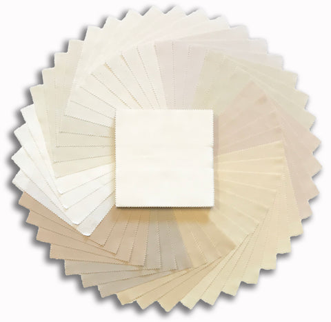 "Kaufman Kona Pre-Cut 42 Piece 5"" Charm Squares 339 42 - Not Quite White"