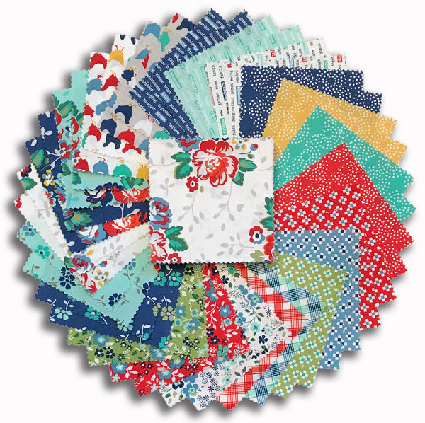 "Windham Pre-Cut 42 Piece 5"" Charm Squares - Backyard Blooms"