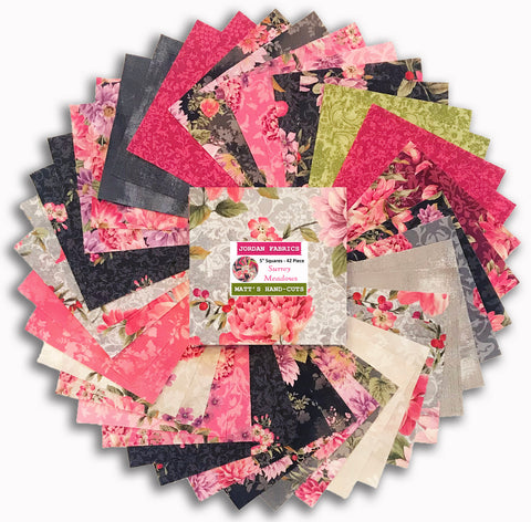 "Kaufman Pre-Cut 42 Piece 5"" Charm Squares - Surrey Meadows"