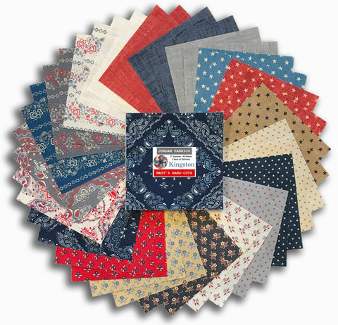 "Windham Pre-Cut 40 Piece 5"" Charm Squares - Kingston"