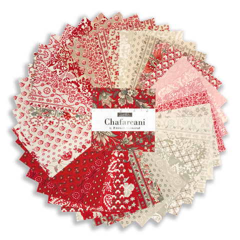 "Moda Pre-Cuts 42 Piece 5"" Charm Squares - French General Chafarcani"