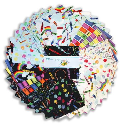 "Riley Blake Pre-Cut 42 Piece - 5"" Stacker Charm Squares - I Dream In Color"