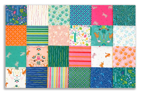 "Riley Blake Pre-Cut 42 Piece - 5"" Stacker Charm Squares - Under The Canopy"