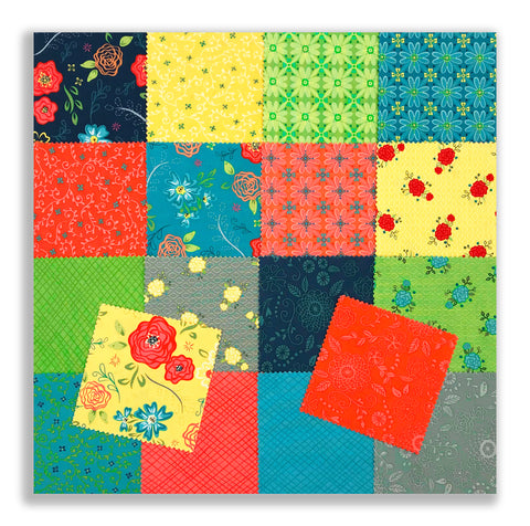 "Riley Blake Pre-Cut 42 Piece - 5"" Stacker Charm Squares - Wildflower Boutique"