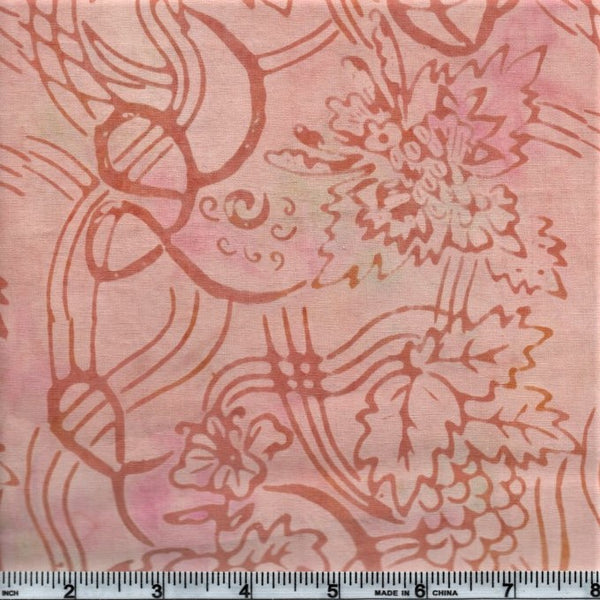 Anthology Batik 600 Pink Grapevines And Grapes By The Yard