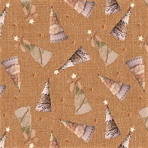 Benartex River's End 06277 07 Wheat Tossed Trees - 1/2 Yard Cut