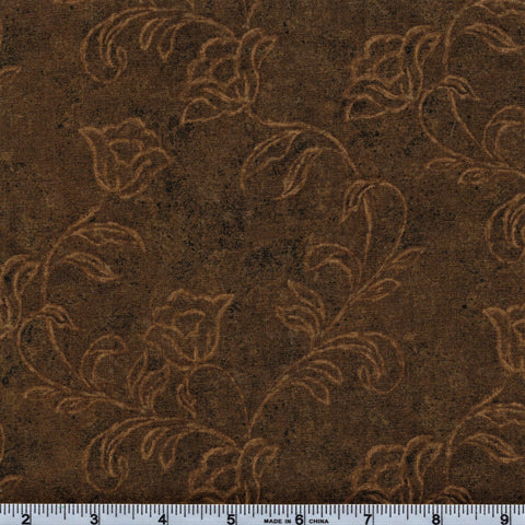 RJR Fabrics Jinny Beyer 6342 5 Umber Floral Roses By The Yard
