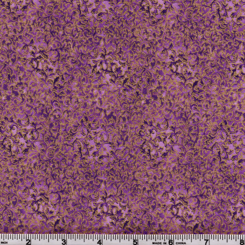 Kaufman Fusions 11 Metallic 6644 20 Amethyst by the yard