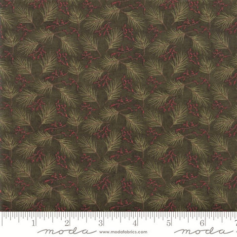 Moda Winter Manor 6773 14 Pine Green Mini Pine By The Yard