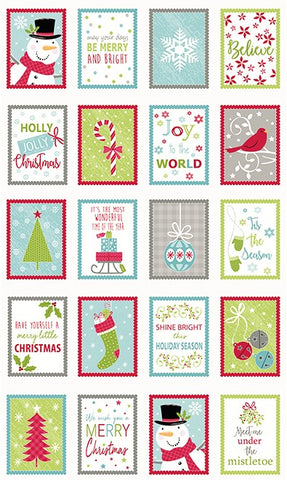"Contempo Joy 06901 99 Multi Merry & Bright 23 1/2"" PANEL By The PANEL (not by the yard)"
