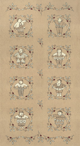 "Moda Snowbound 7020 14 Fawn 22"" PANEL By The PANEL (not by the yard)"