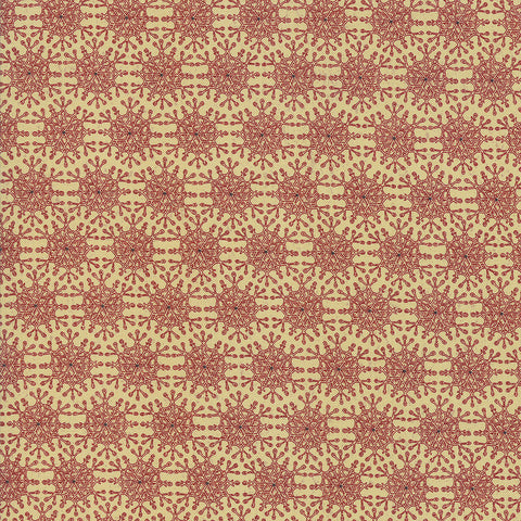 Moda Snowbound 7022 13 Fawn Berry Snowflakes By The Yard