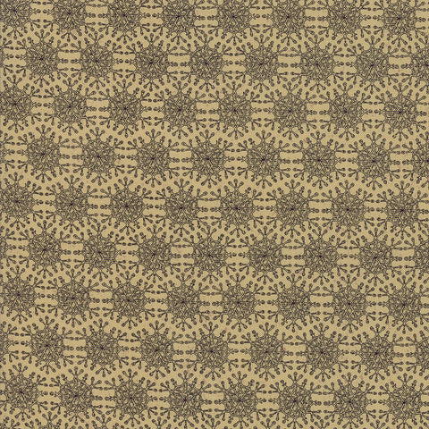 Moda Snowbound 7022 15 Fawn Coal Snowflakes By The Yard