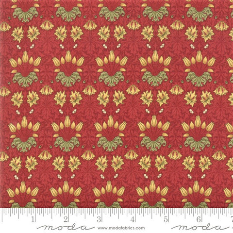 Moda May Morris Studio 7342 13 Crimson Tulip By The Yard