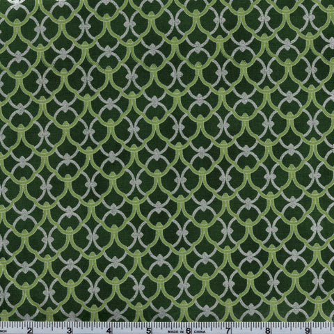Hoffman Metallics 7343 141 Champlain In Green By The Yard