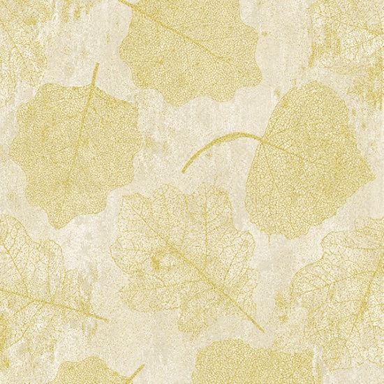 Hoffman Metallic 7689 20 Natural/Gold Harvest Homecoming By The Yard