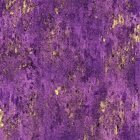 Hoffman Metallic Luxe 7690 14G Purple/Gold Weathered Solid By The Yard