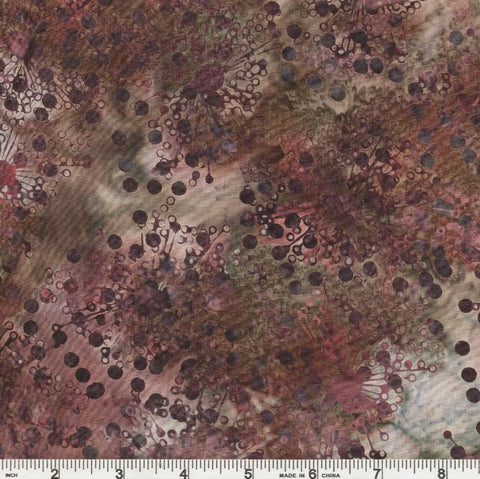 Hoffman Fabrics Bali Batik 772 270 Hippo Grey Flower Seeds By The Yard