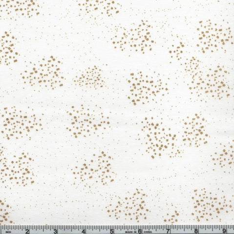 Hoffman Graceful Garden 7734 3G White/Gold Speckled Spray By The Yard
