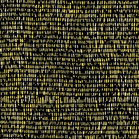 Kanvas Metallic Mixers Gold 7734 99 Mesh Black/Gold By The Yard