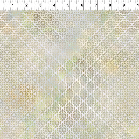 In The Beginning Fabrics Diaphanous 7ENC 5 Sand Circle Trellis By The Yard