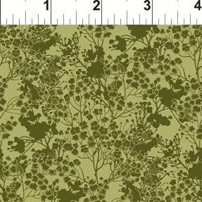 In The Beginning Garden Delights III - 7GSG 3 Green Tonal Floral By The Yard