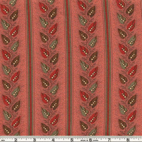 Moda Old Cambridge Pike 8326 18 Rose Pea Vine Stripe By The Yard